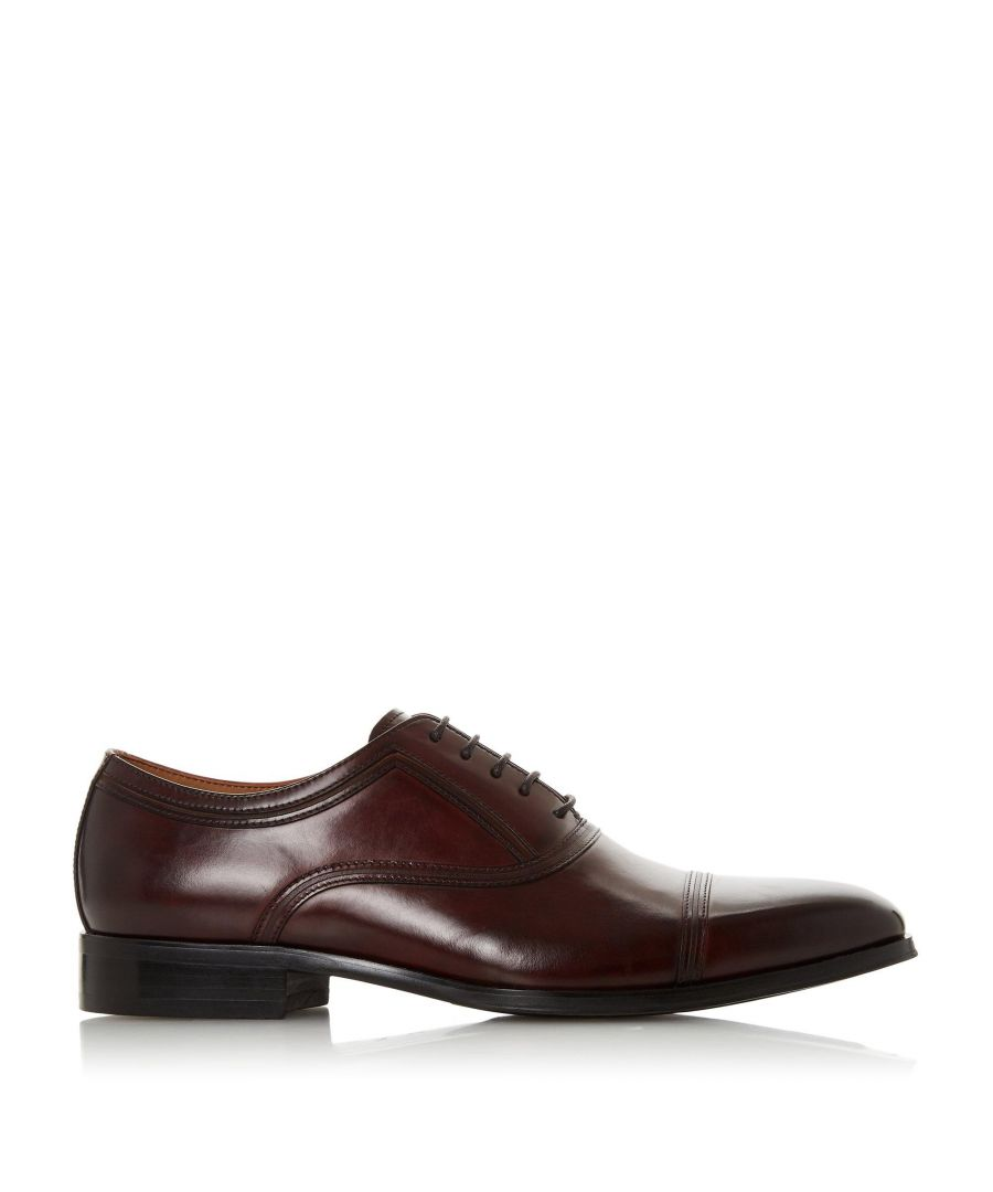 Image for Dune Mens SUMMERS Toe Cap Stitch Detail Formal Shoes