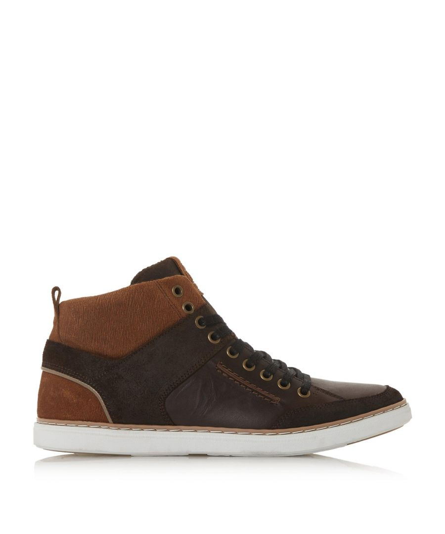 Image for Dune Mens SVEN Leather Hi-Top Trainers