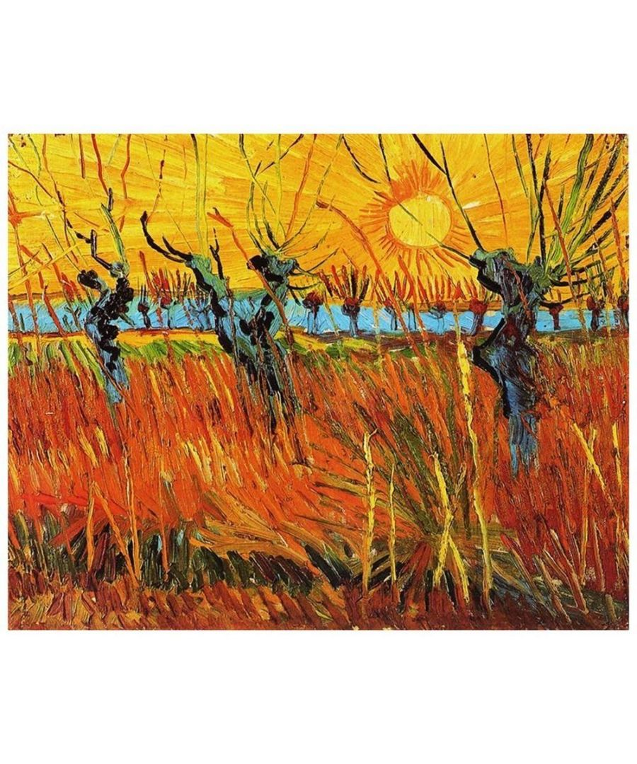 Image for Canvas Print - Willows At Sunset - Vincent Van Gogh Cm. 80x100