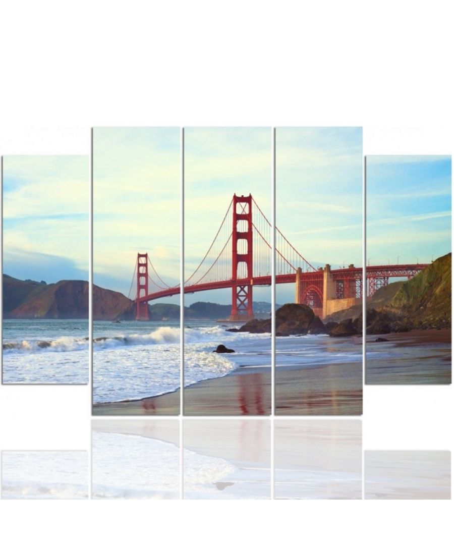 Image for Canvas Print - San Francisco Is Around The Corner Cm. 150x100 (5 Panels)