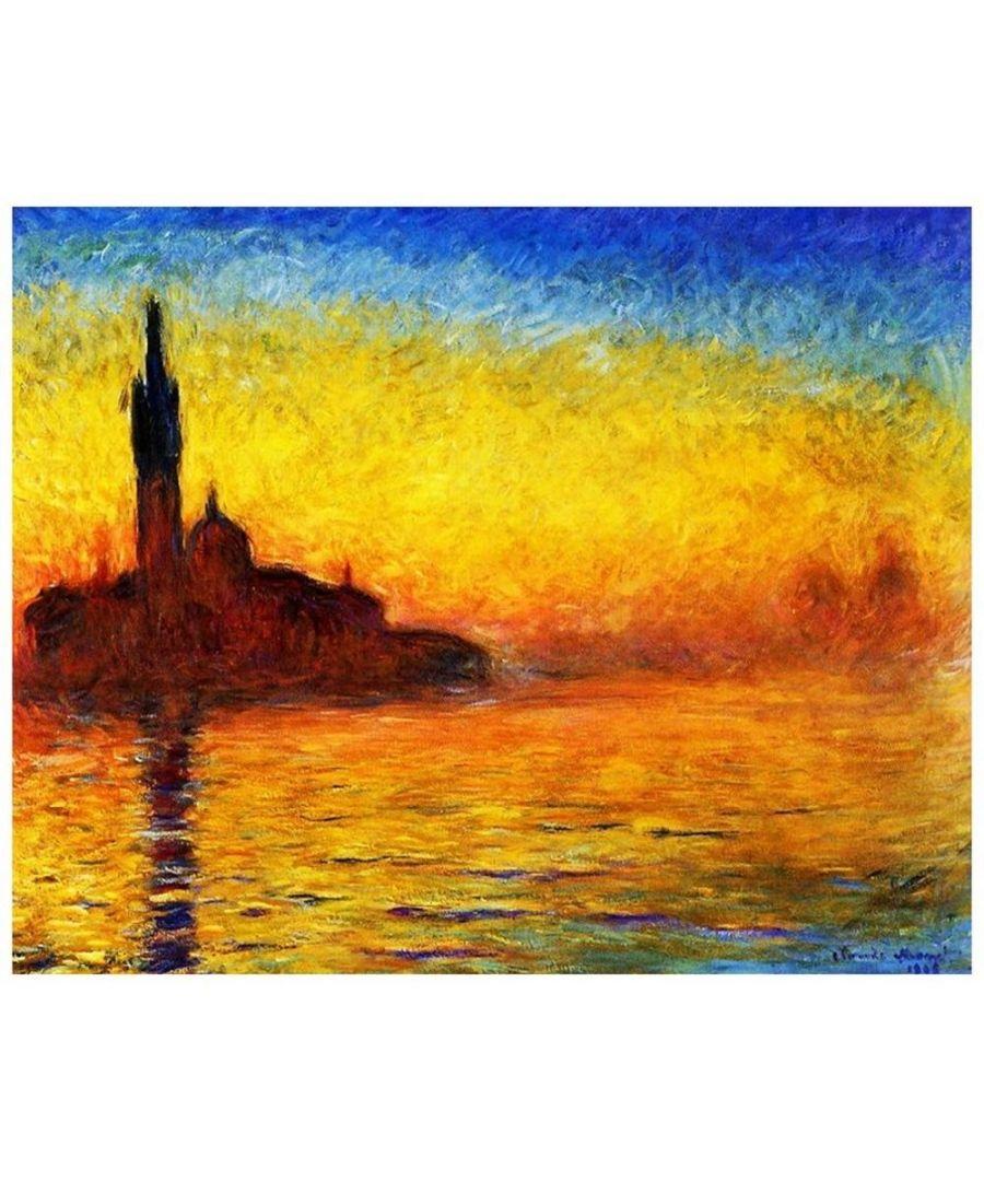 Image for Canvas Print - San Giorgio By Twilight - Claude Monet Cm. 80x100
