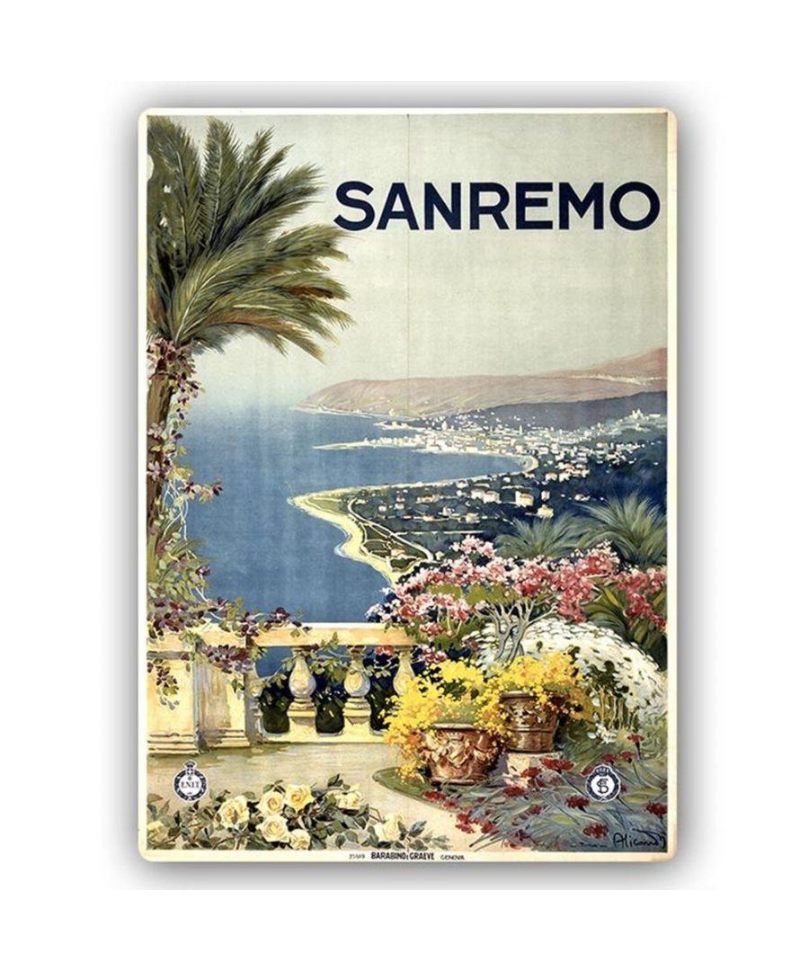 Image for Vintage Tourist Poster - Metal Print  - Sanremo