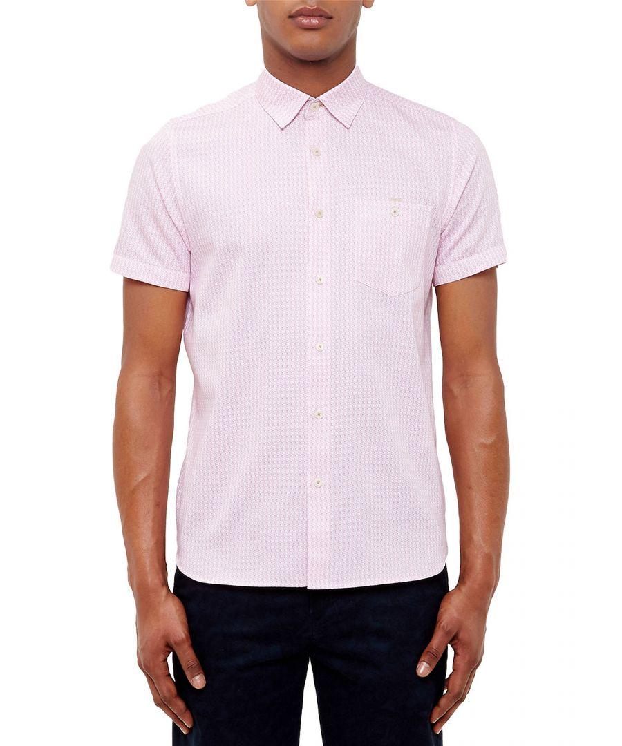 Image for Ted Baker Famgogo Flamingo Print Cotton Shirt, Pink