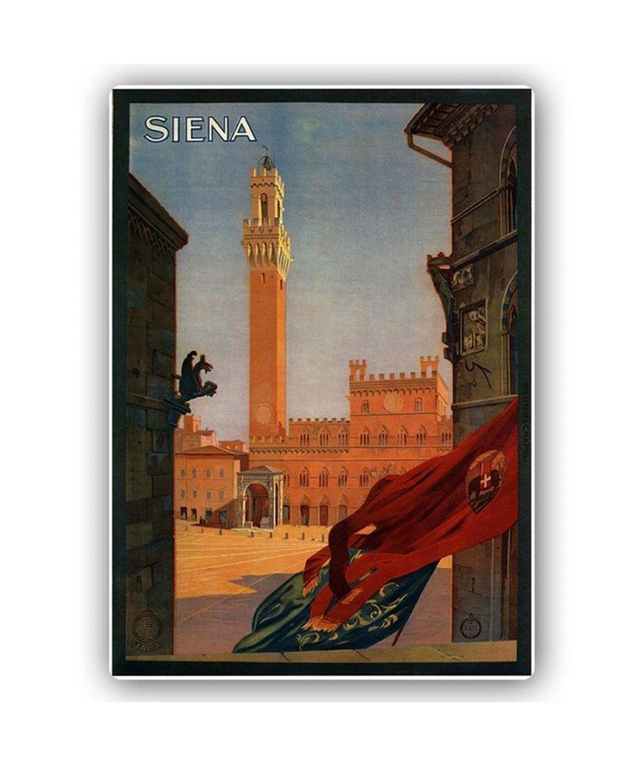 Image for Vintage Tourist Poster - Metal Print  - Siena