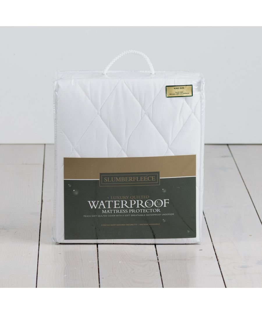 Image for Waterproof Quilted Mattress Protector KING