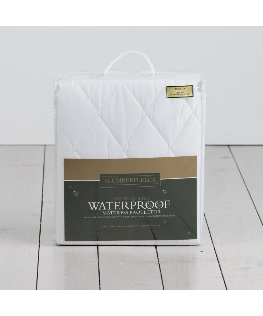 Image for Slumberfleece Waterproof Quilted Mattress Protector
