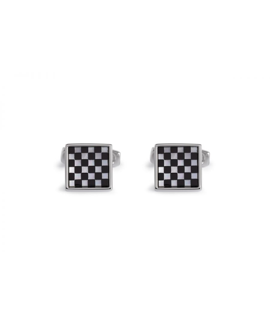 Image for Onyx/MOP Small Square Chequer