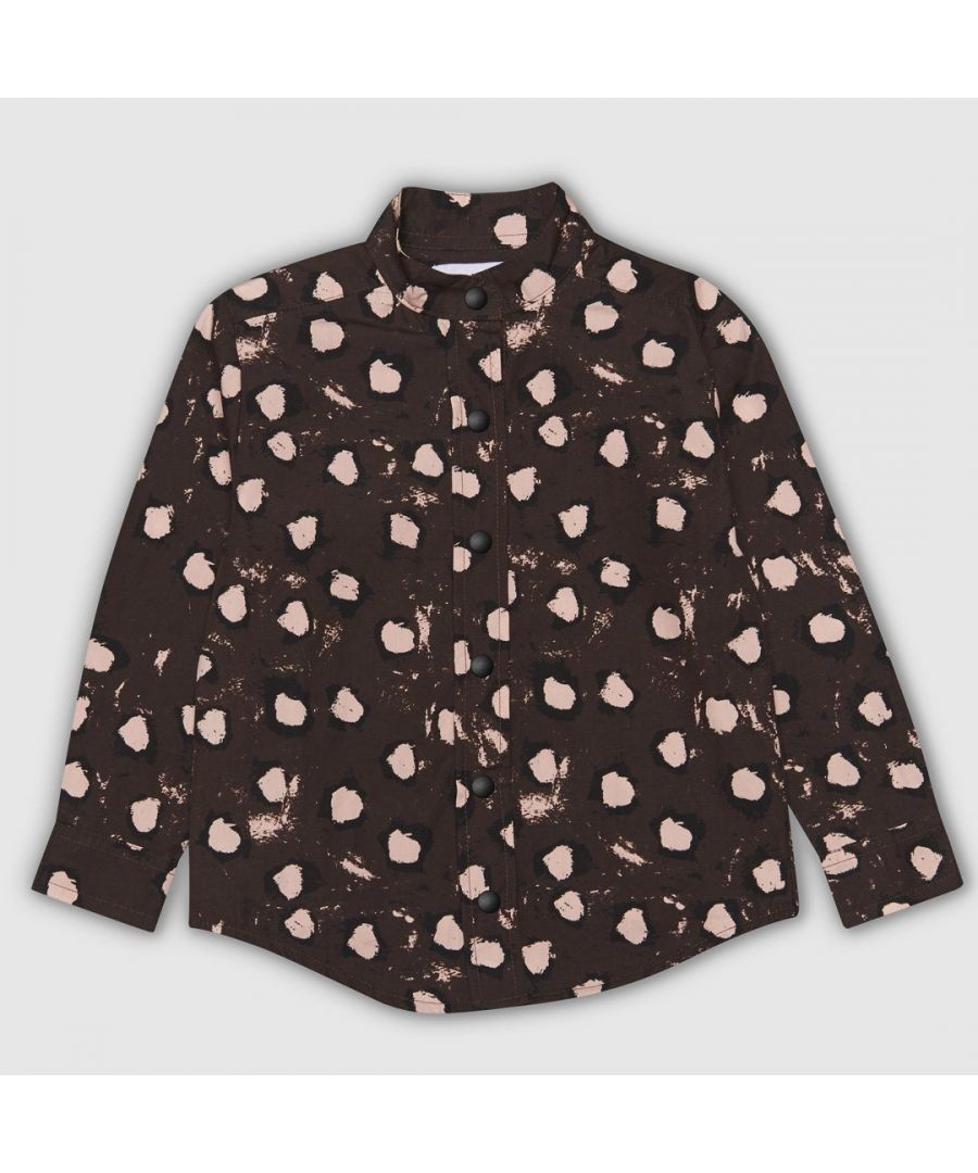Image for Brown painted dot shirt