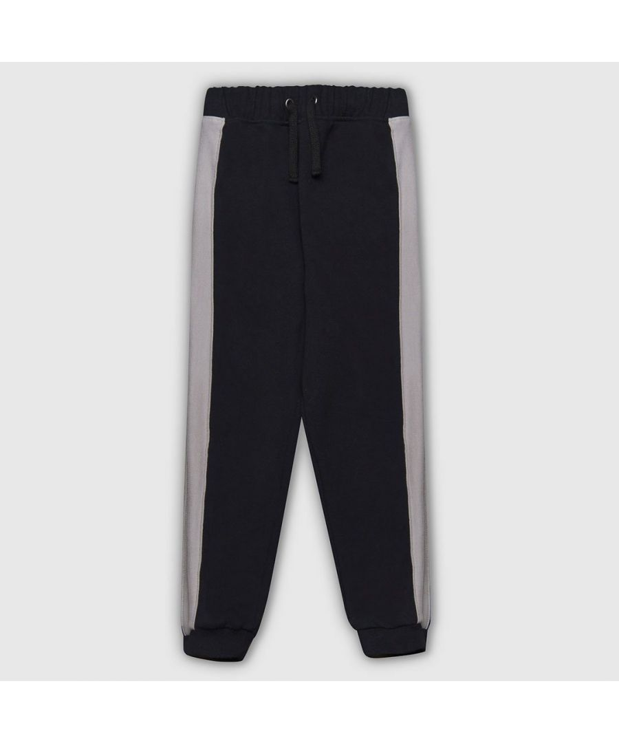 Image for Panel black and grey joggers