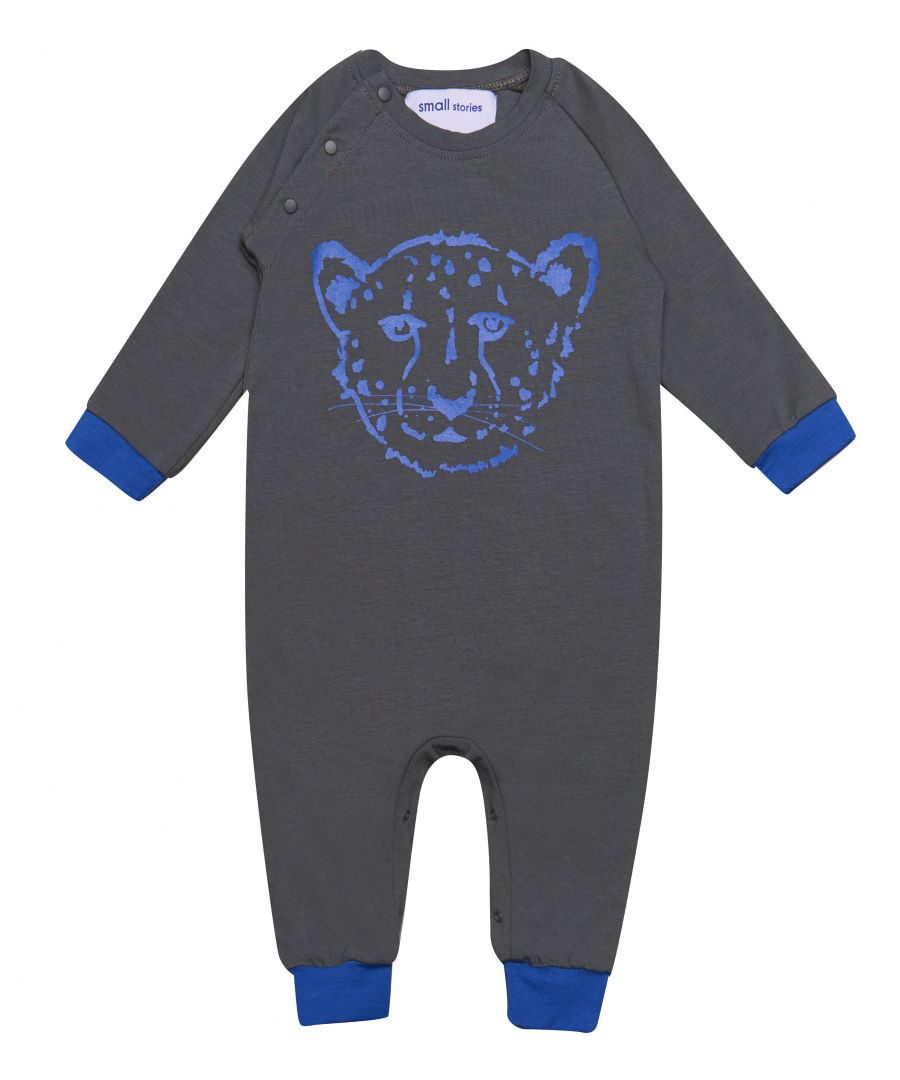 Image for Cheetah Blue Romper