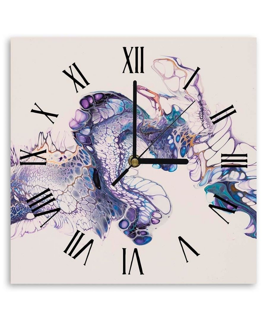 Image for Wall Clock - Purple Scales Cm. 30x30