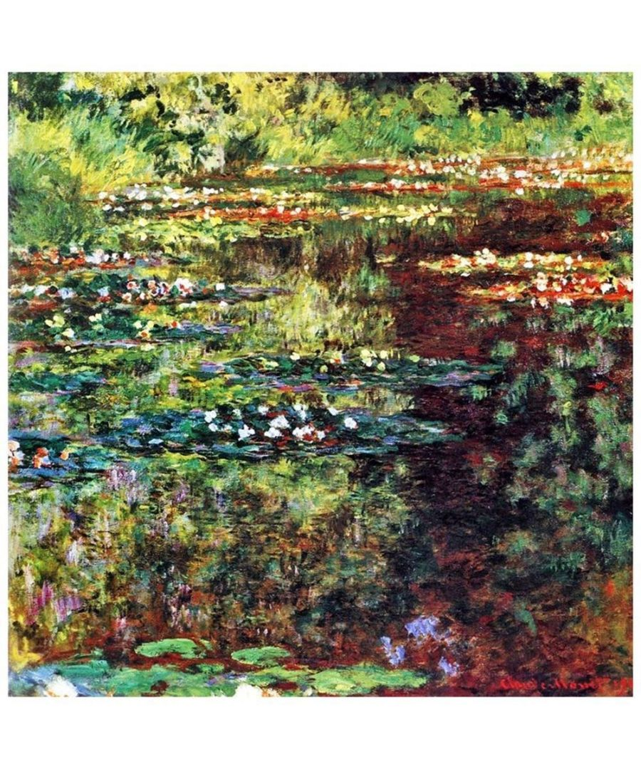 Image for Canvas Print - Waterlily Pond - Claude Monet Cm. 90x90