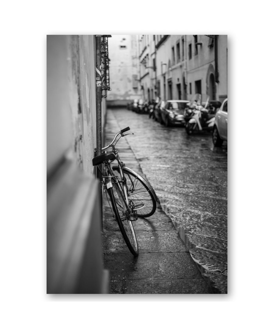 Image for Canvas Print - Bicycle Leaning Against The Wall - Wall Art Decor