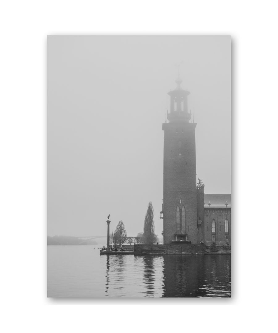 Image for Canvas Print - Bell Tower Over The Water - Wall Art Decor