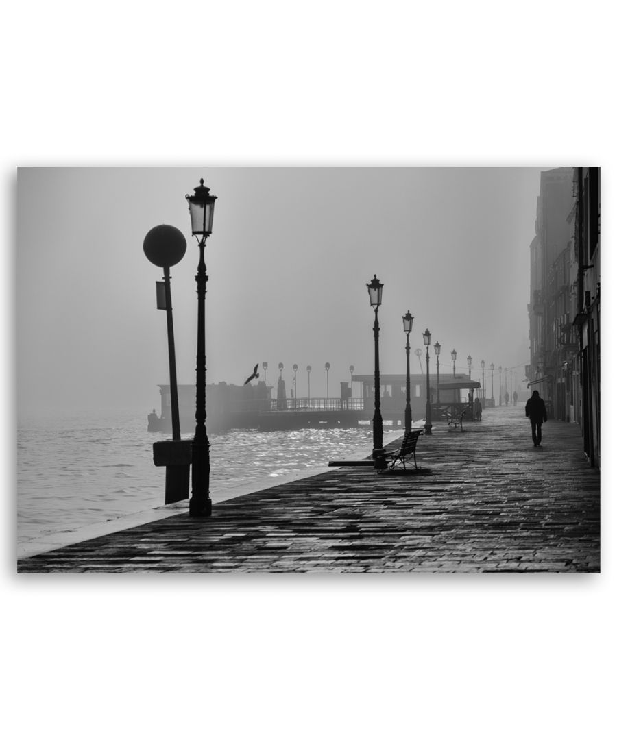 Image for Canvas Print - Streetlamps In The Haze - Wall Art Decor