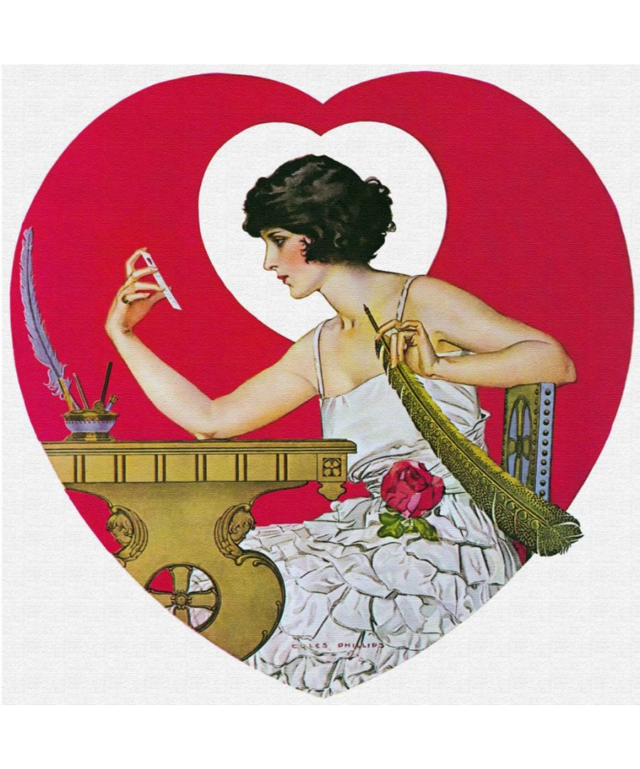 Image for Canvas Print - Life Magazine February 1922, Valentine's Day - C. Coles Phillips - Wall Art Decor