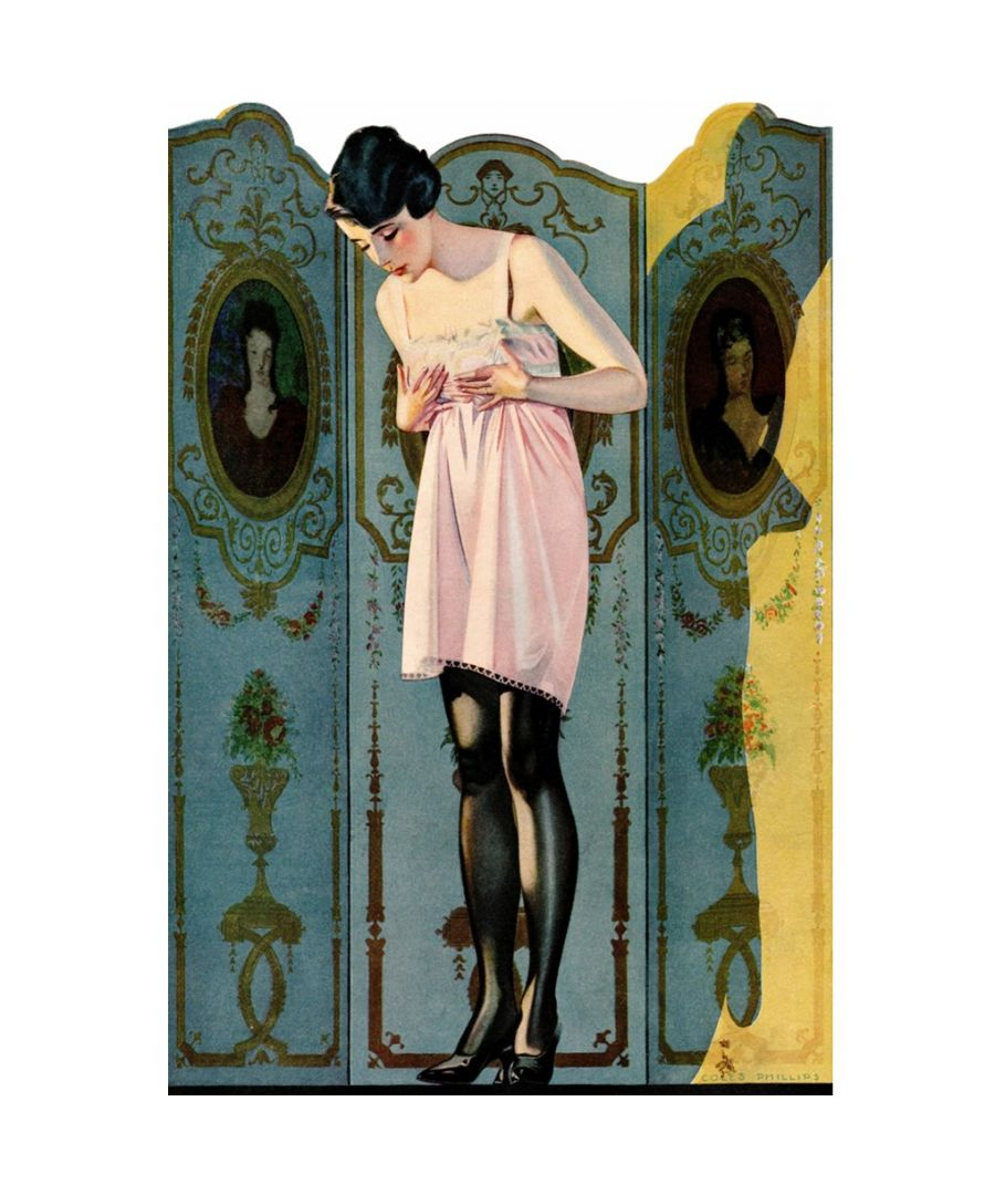 Image for Canvas Print - Luxit Hosiery Ad, 1920 - C. Coles Phillips - Wall Art Decor