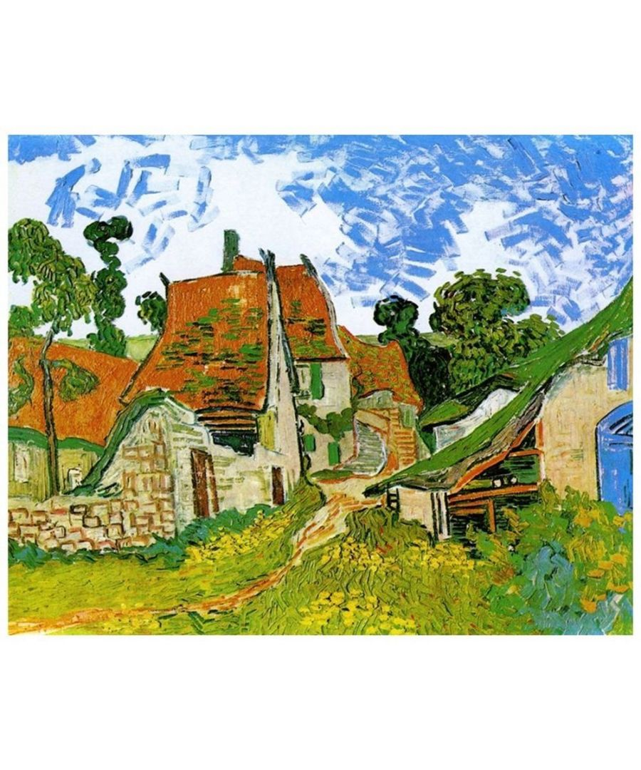 Image for Canvas Print - Village Street In Auvers - Vincent Van Gogh Cm. 80x100
