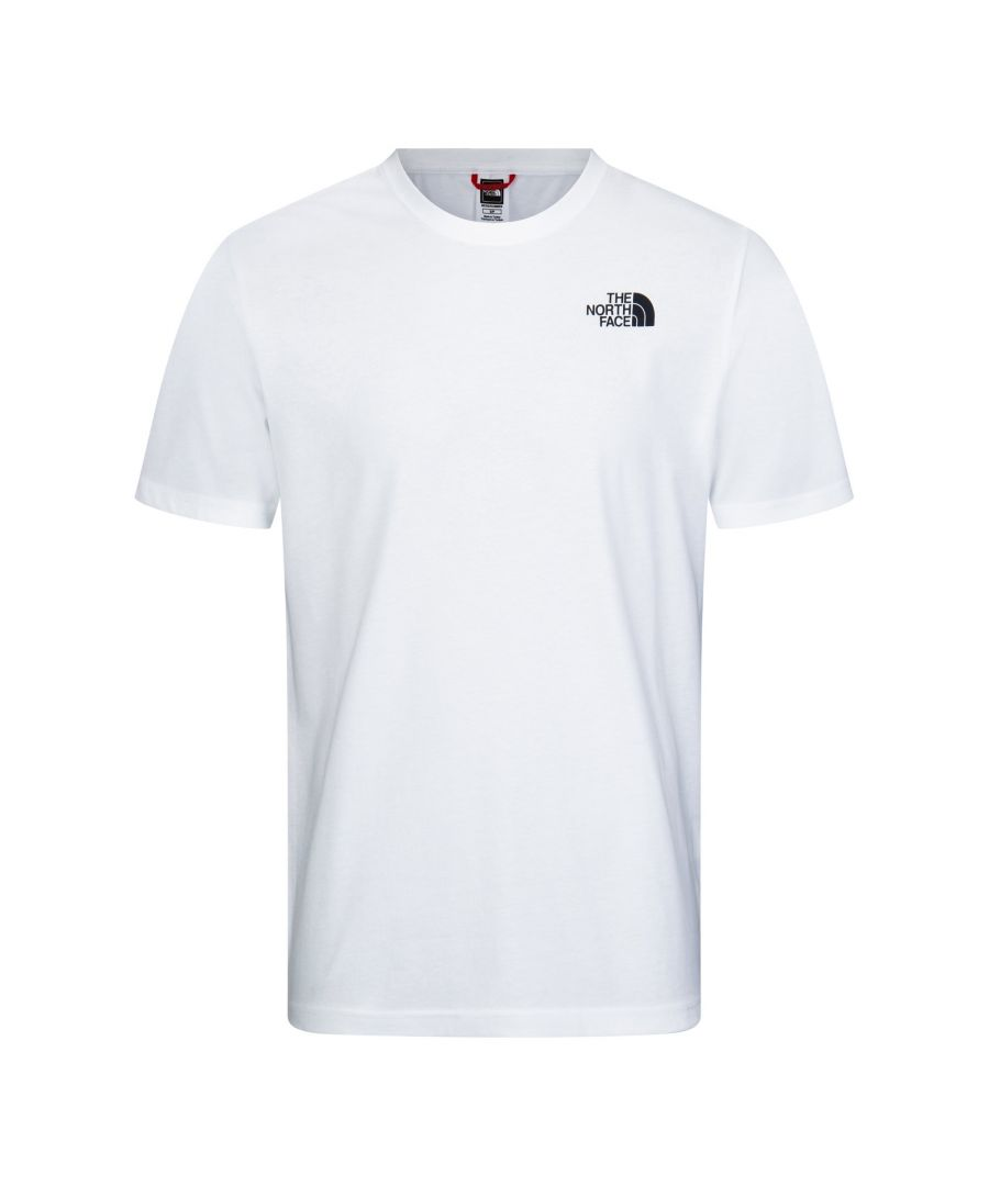 Image for The North Face Men's Redbox Tee, White/Black/Yellow