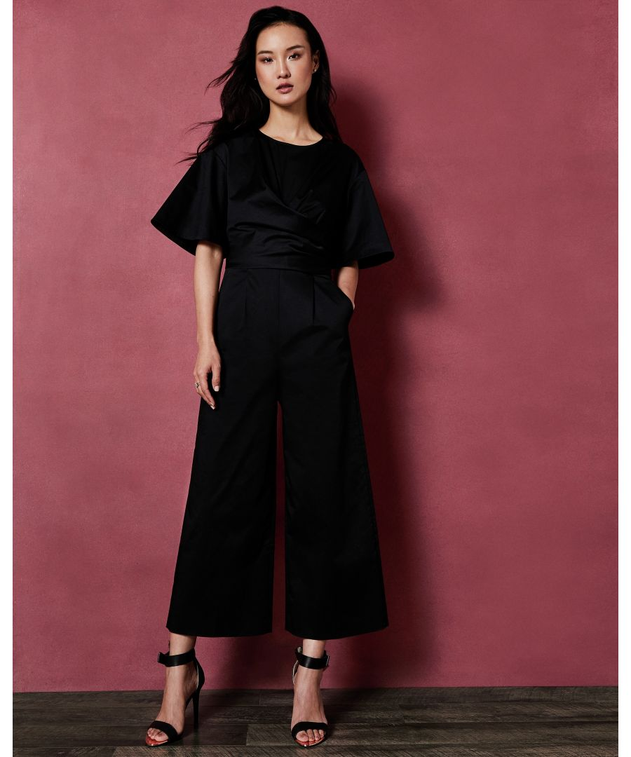 Image for Ted Baker Taaraa Cotton Jumpsuit With Cross Detail, Black