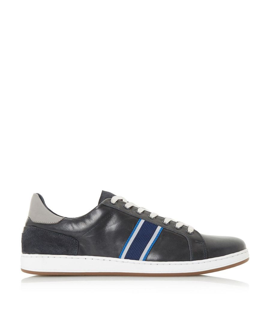Image for Dune Mens TAGGGER Stripe Detail Trainers