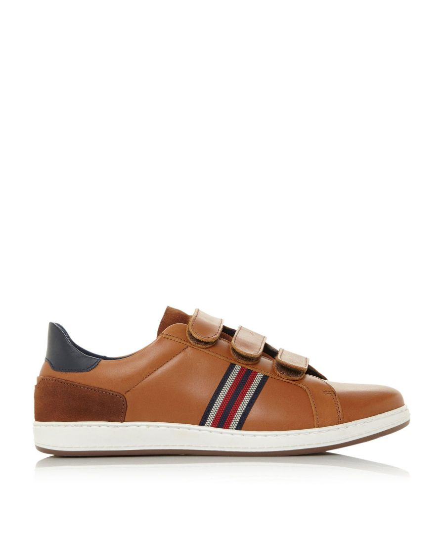 Image for Dune Mens TAMWORTH 1 Smooth Rip Tape Trainers