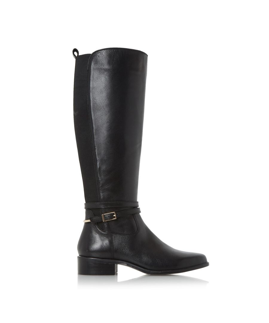 Image for Dune Ladies TARO Buckle And Hardware Detail Knee High Riding Boots
