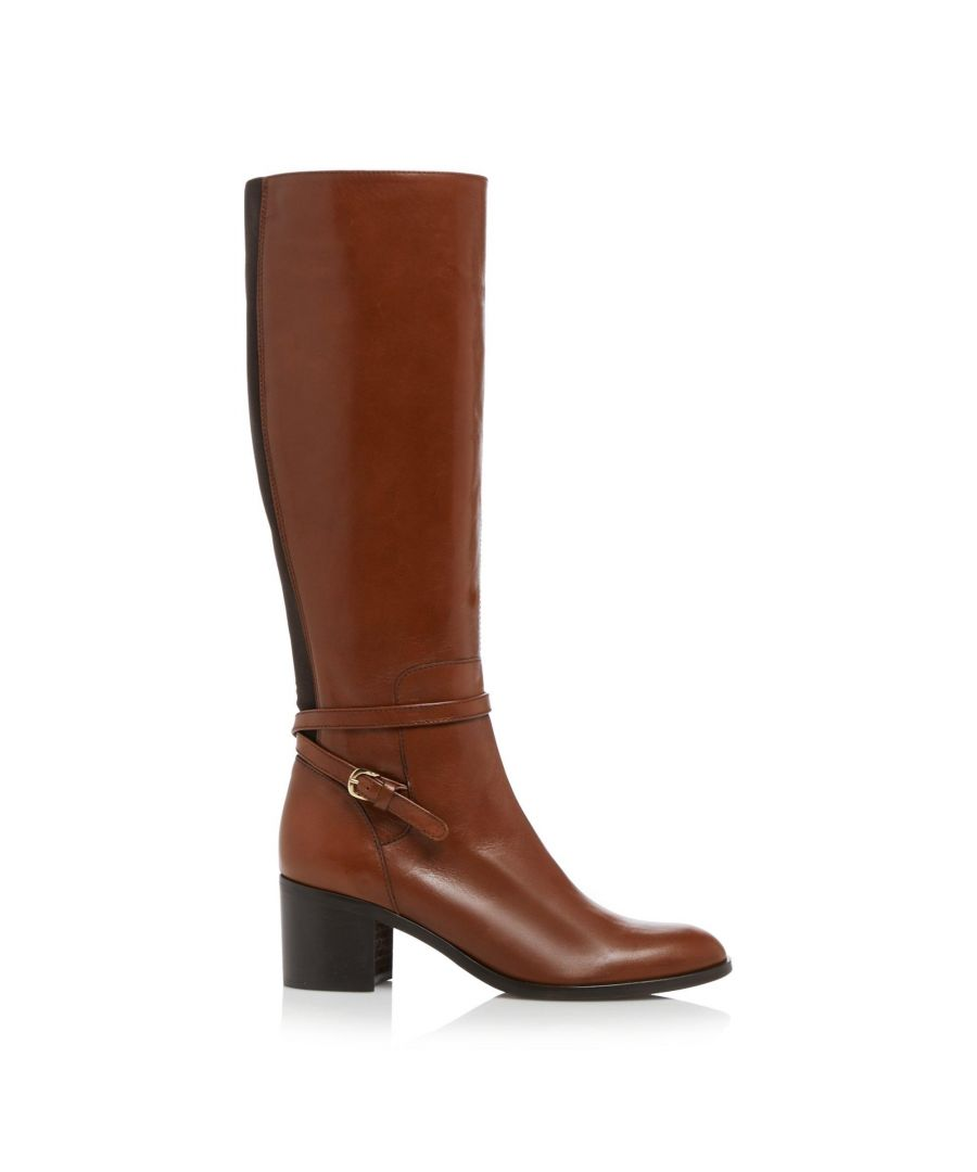 Image for Dune Ladies TAXI Refined Buckle Strap Knee High Zip Up Boots