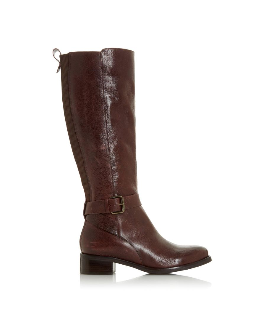 Image for Bertie Ladies TAYKONIE Side Buckle Low Heel High Leg Boots