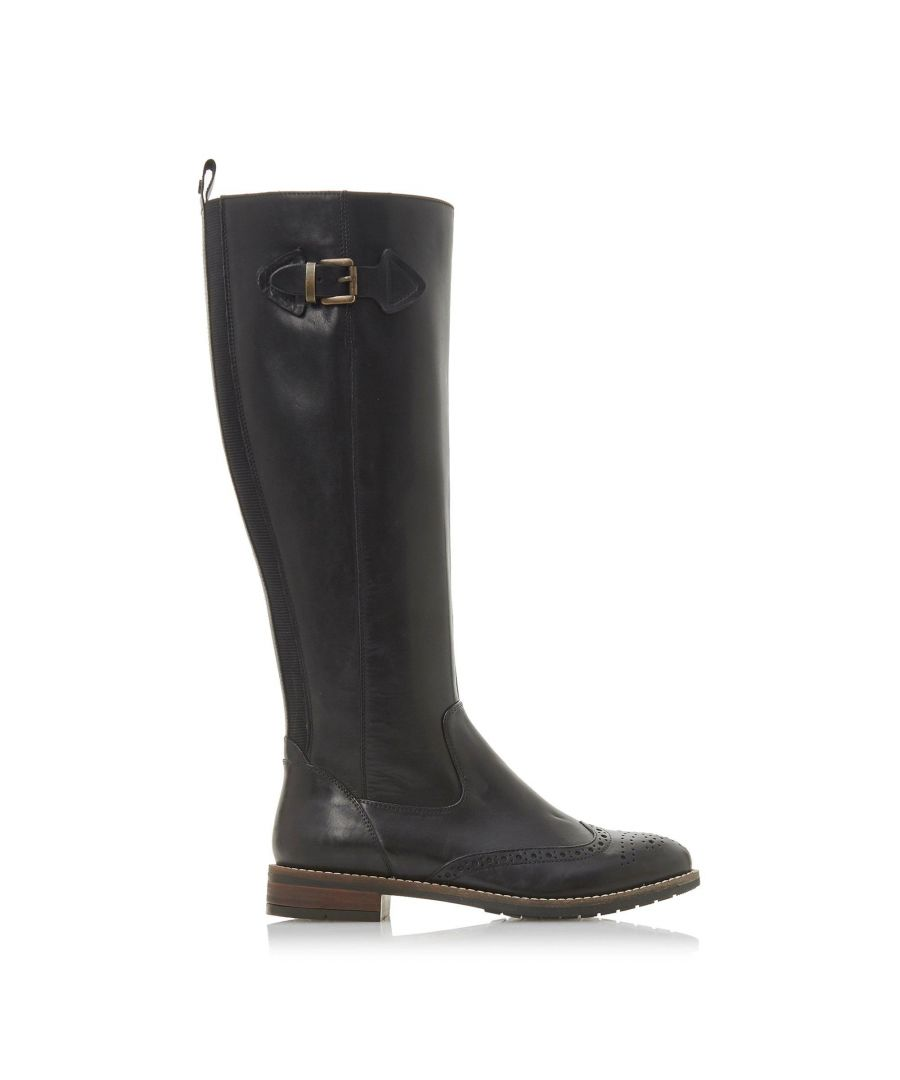 Image for Dune Ladies TAYTUM Buckle Knee High Riding Boots