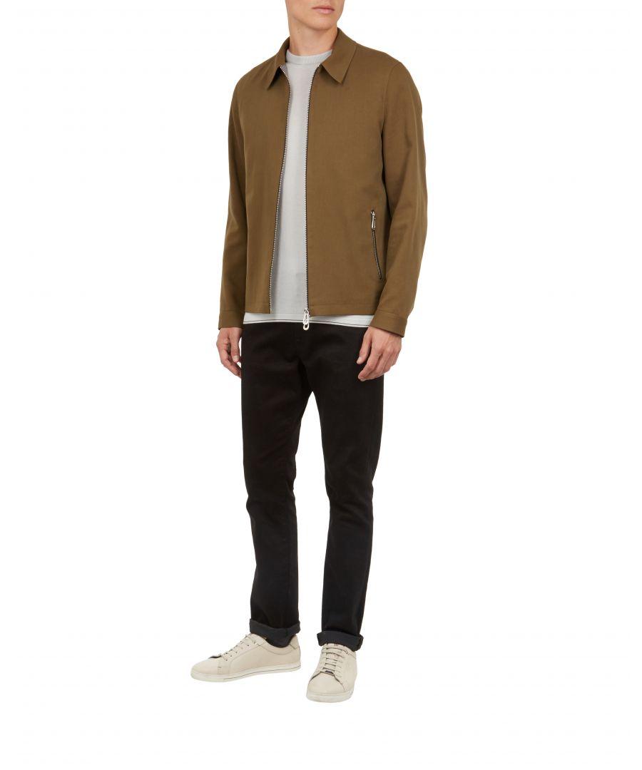 Image for Ted Baker Altoe Cotton Straight Hem Jacket, Khaki