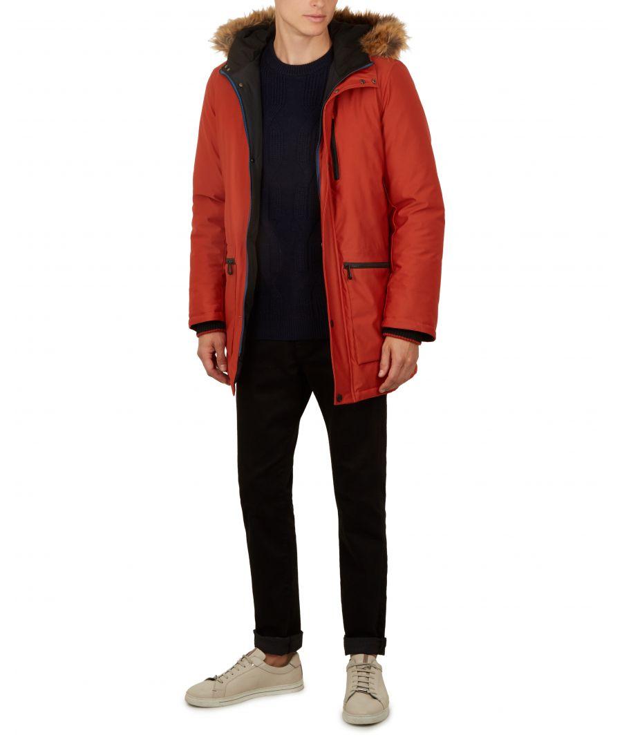 Image for Ted Baker Gouda Parka Jacket, Orange