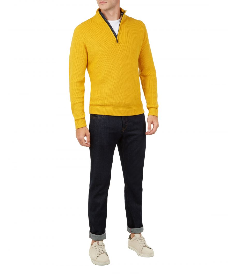 Image for Ted Baker Lohas Funnel Neck Wool-Blend Jumper, Yellow