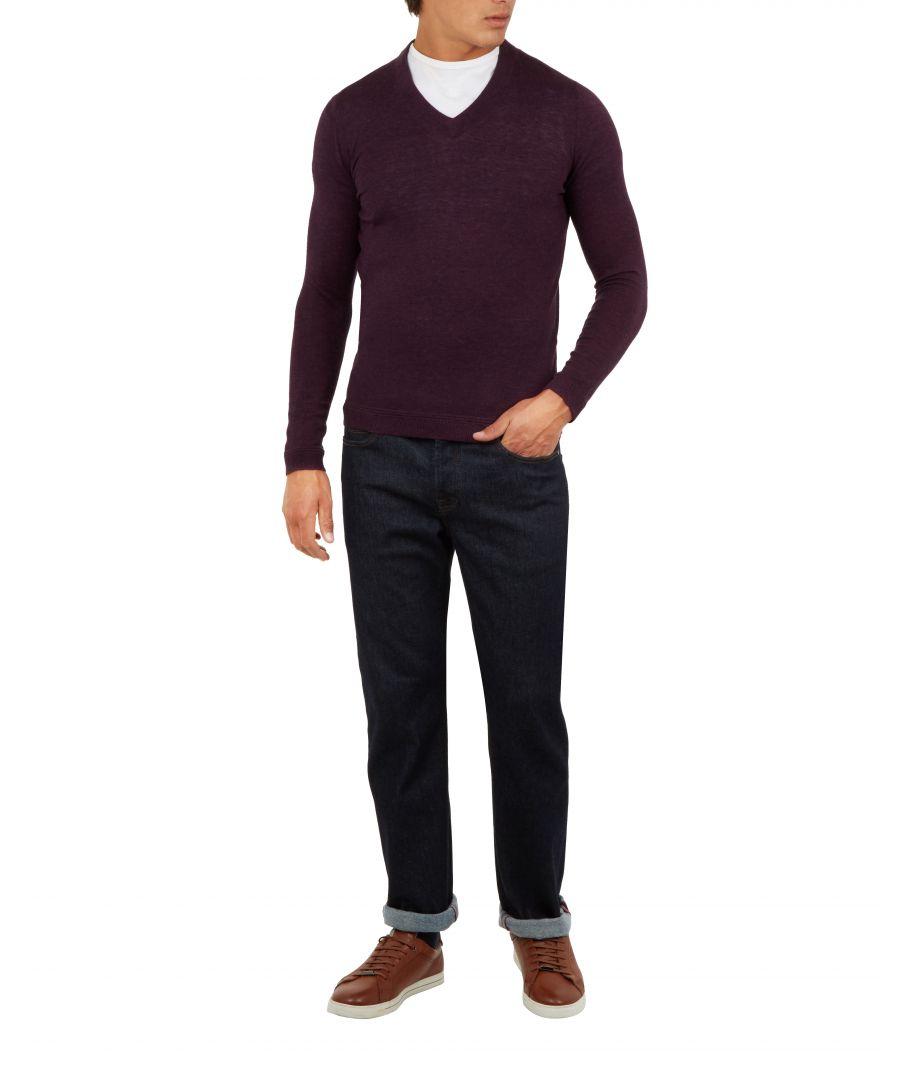 Image for Ted Baker Noel V Neck Wool Jumper, Purple