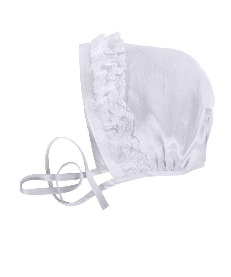 Image for Baby  White Christening Bonnet