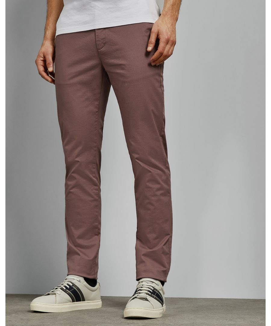 Image for Ted Baker Teenchi Tapered Fit Plain Chino, Deep Pink