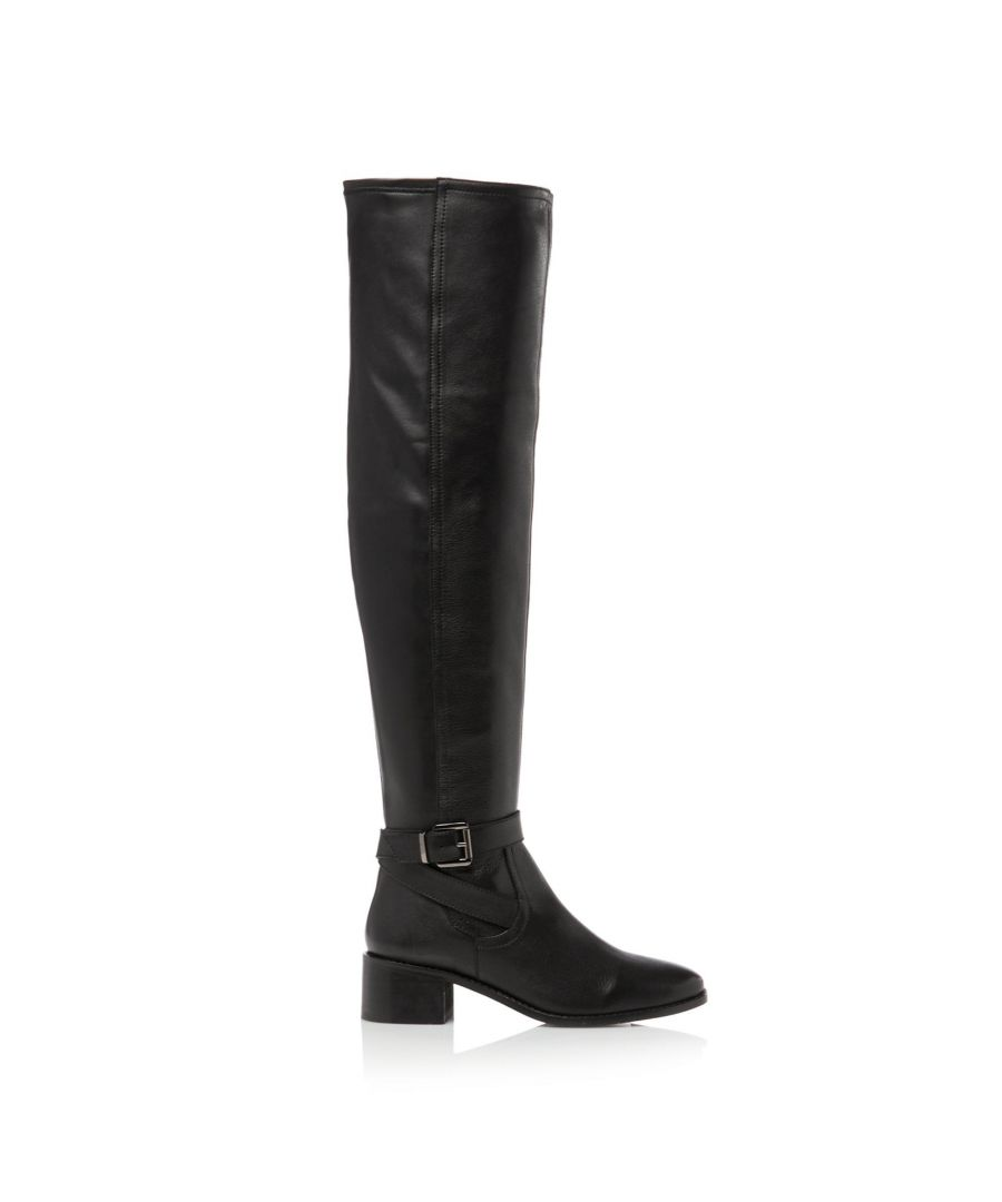 Image for Dune Ladies TESLEY Buckle Detail Over Knee Stretch Boots