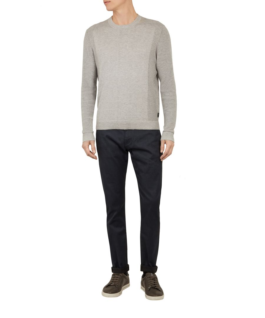 Image for Ted Baker Alforon Tailored Tapered Leg Jean, Teal Blue