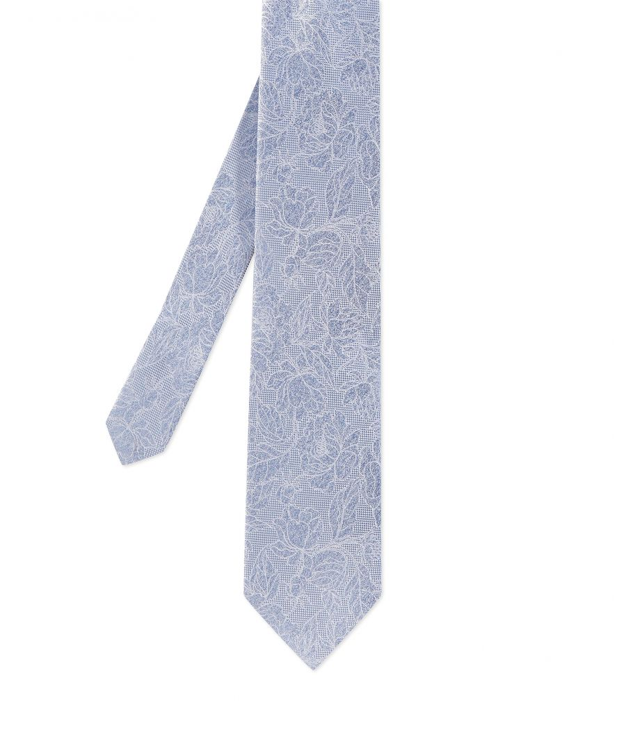 Image for Ted Baker Apart Floral 7Cm Tie, Light Blue
