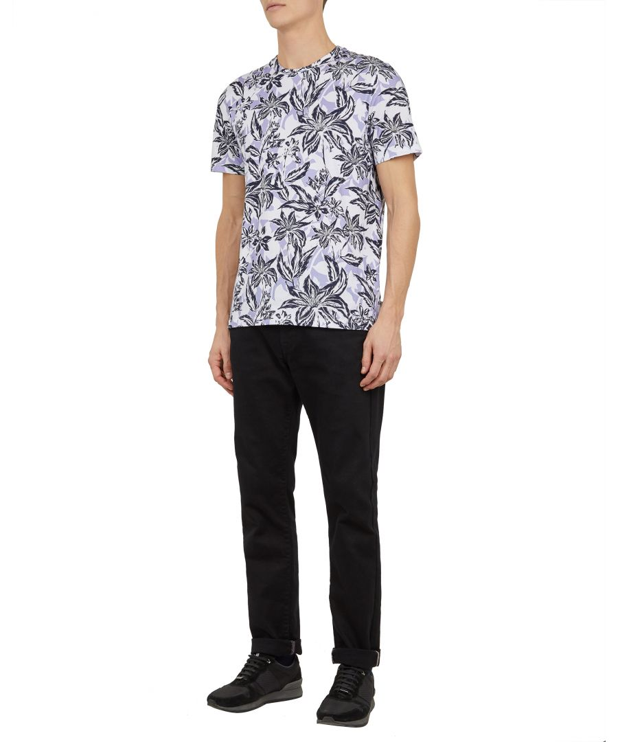 Image for Ted Baker Bottle Short-sleeved Floral Printed T-Shirt, Lilac