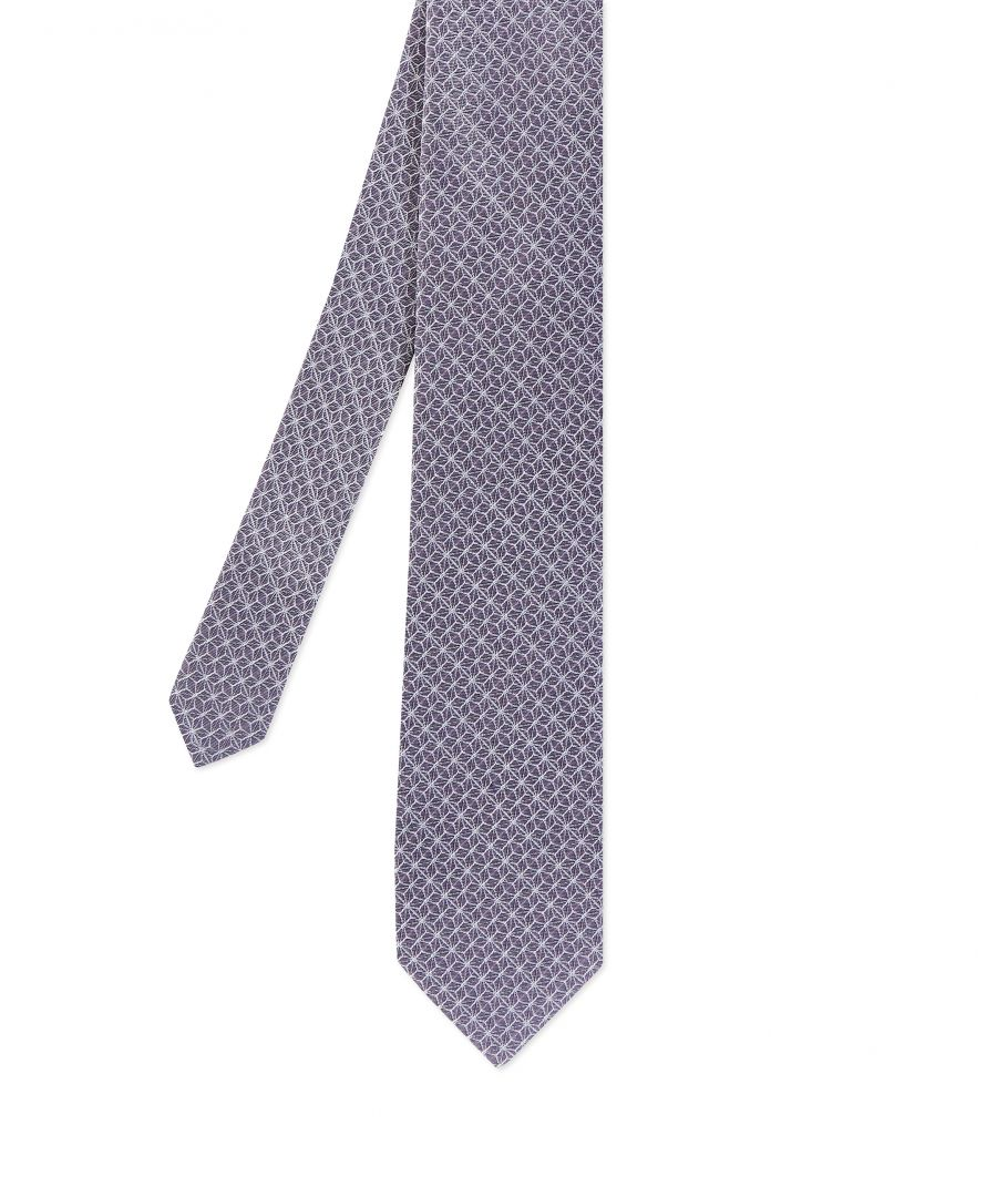 Image for Ted Baker Cable Geo 7Cm Tie, Lilac