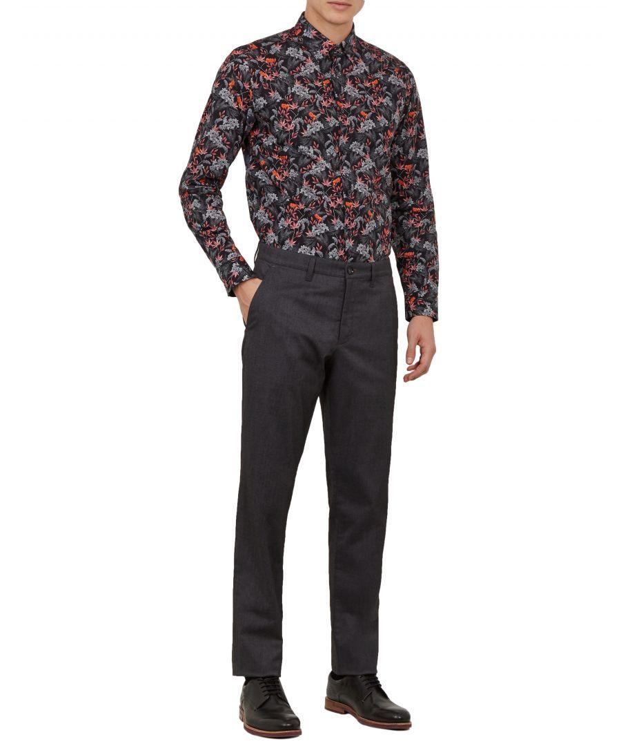 Image for Ted Baker Claiel Semi Plain Trouser, Charcoal