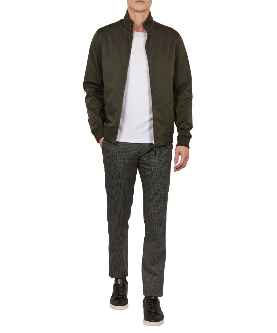 Image for Ted Baker Claude Wadded Bomber Jacket, Khaki