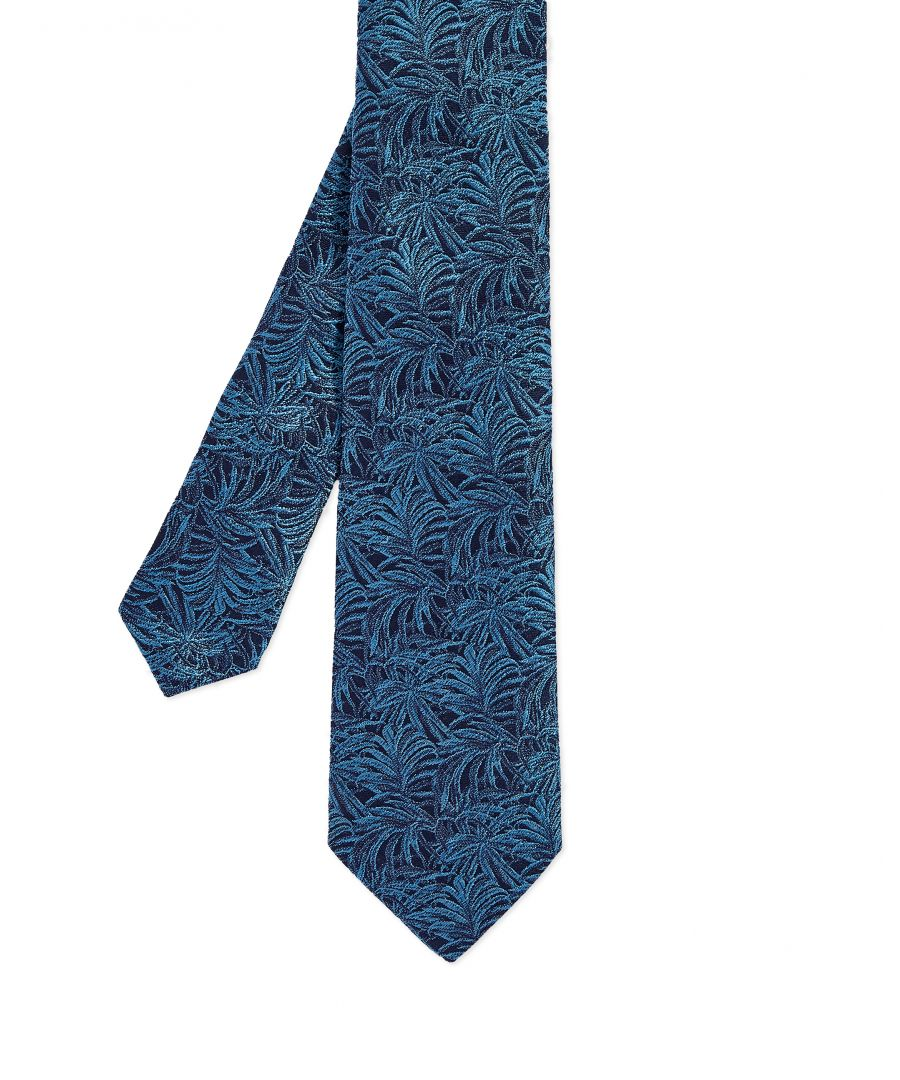 Image for Ted Baker Drawer Floral 7Cm Tie, Blue