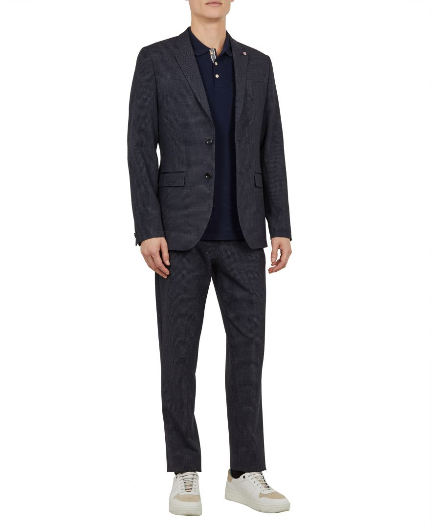 Image for Ted Baker Groove Mini Check Jacket, Navy