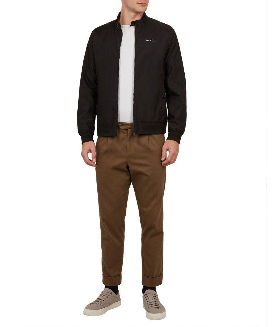Image for Ted Baker Mcgee Branded Bomber, Black