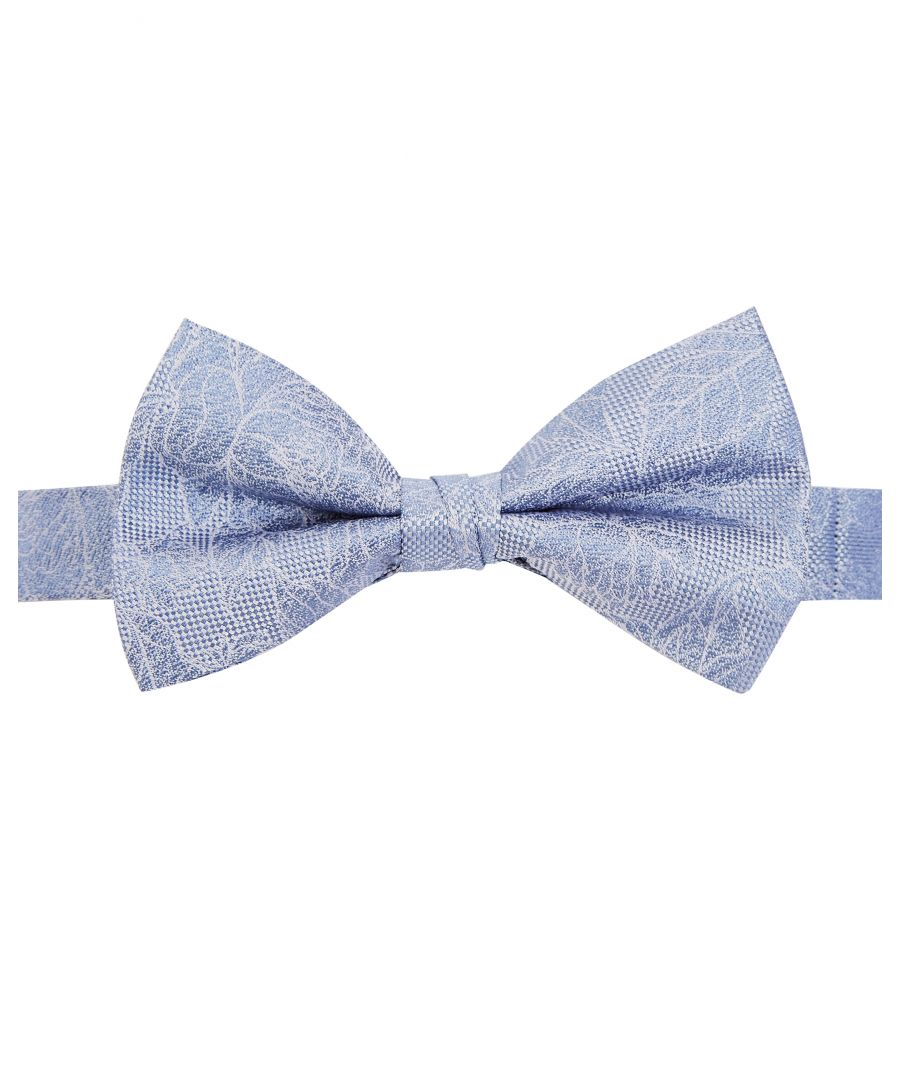 Image for Ted Baker Partbow Floral Bow Tie, Light Blue
