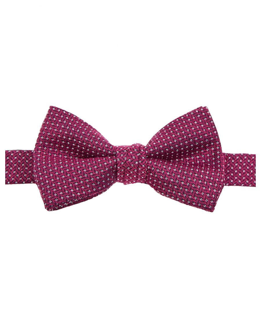 Image for Ted Baker Runbow Woven Semi Plain Bow Tie, Pink