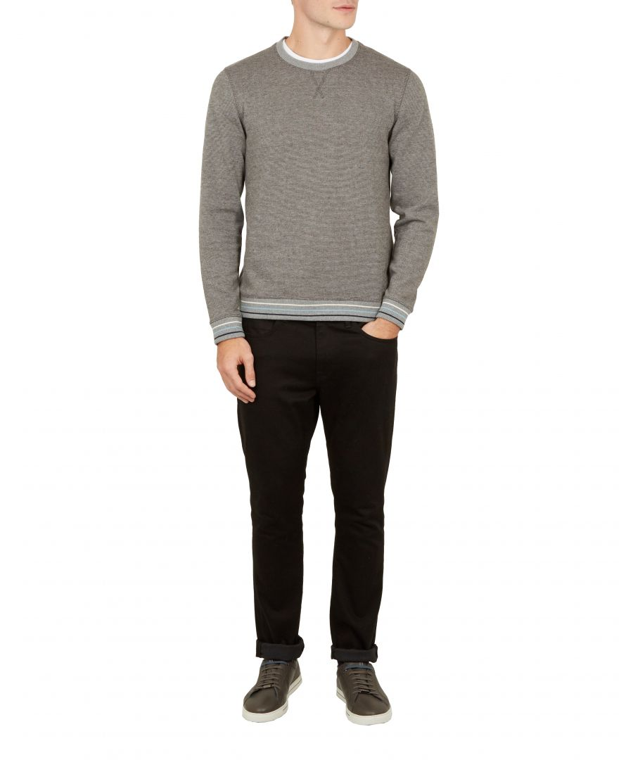 Image for Ted Baker Sahera Long-sleeved Jersey Sweatshirt, Charcoal