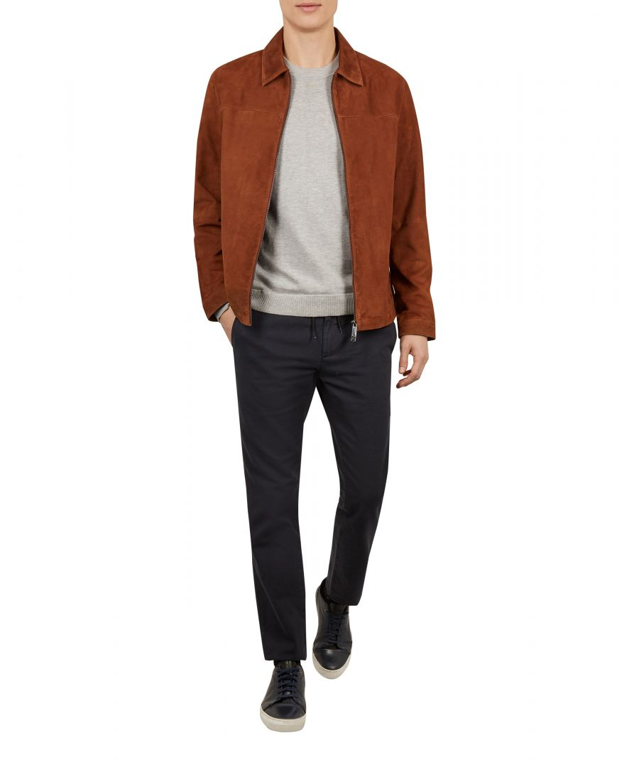 Image for Ted Baker Salza Suede Zip Through Jacket, Tan
